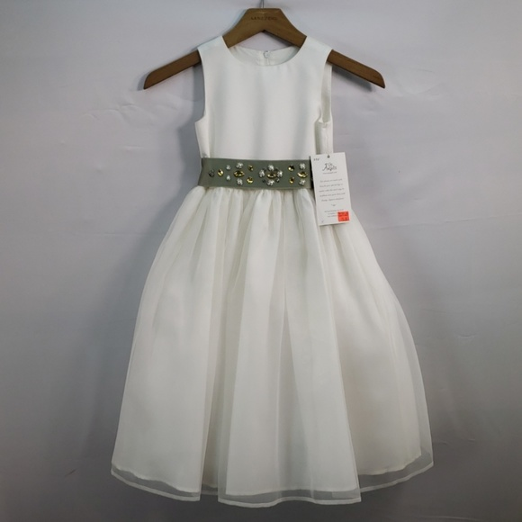 Us Angels Other - US ANGELS FLOWER GIRL DRESS SATIN AND ORGANZA